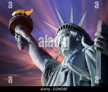 USA - NEW YORK - Statua della Libertà Foto Stock