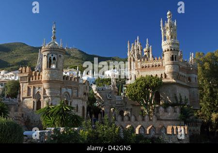 Castillo Monumento Colomares a Benalmadena, Spagna. Foto Stock