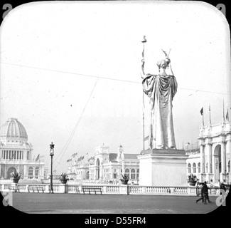 World's Columbian Exposition: corte d onore, Chicago, Stati Uniti, 1893. Foto Stock