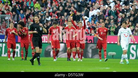 Fußball Bundesliga 13. Spieltag: FC Bayern München - Hannover 96 am 24.11.2012 in der Allianz Arena in München (Bayern). Foto Stock