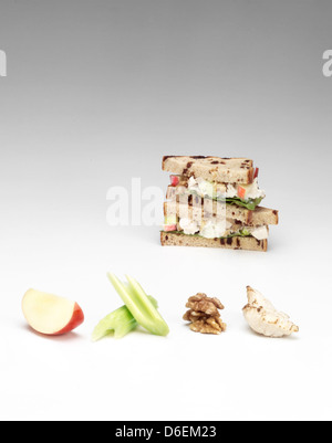 Pollo e sandwich di Apple Foto Stock