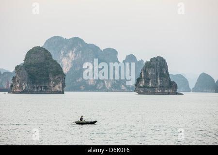 Halong Bay, Sito Patrimonio Mondiale dell'UNESCO, Vietnam, Indocina, Asia sud-orientale, Asia Foto Stock