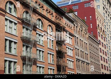 Loft edifici, Tribeca, Manhattan, New York City, Stati Uniti d'America, America del Nord Foto Stock