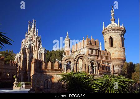 Il Castillo Monumento Colomares Foto Stock