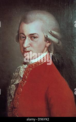 Wolfgang Amadeus Mozart (1756-1791), c1780. Il compositore austriaco. Foto Stock