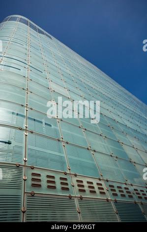 L'Urbis edificio nel centro della città di Manchester, Inghilterra, Regno Unito, home per il Museo Nazionale del Foto Stock