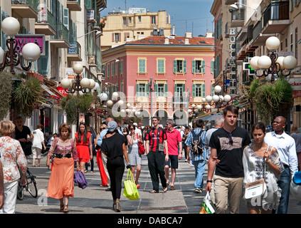 Nizza Rue Massena Costa Azzurra Costa Azzurra Francia Foto Stock