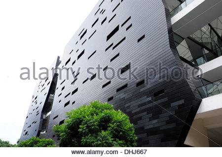 Lasalle, College of Arts, una moderna Università nel centro della città, a Singapore, in Asia Foto Stock
