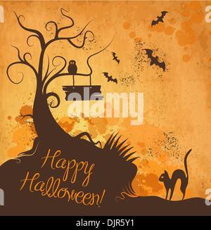 Halloween grunge sfondo vettoriale Foto Stock
