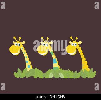 Tre African Safari le giraffe Foto Stock