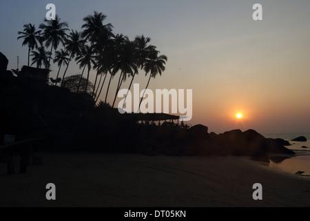 Palolem beach in Goa, India India del Sud foto: pixstory / Alamy Foto Stock