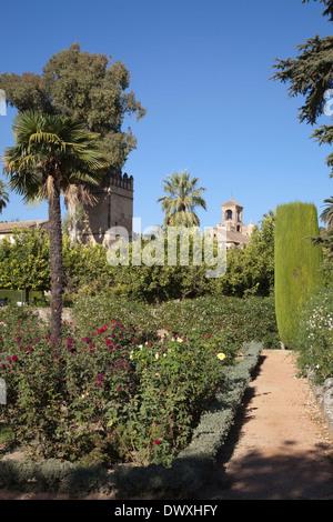 Giardini presso l'Alcazar de los Reyes Cristianos Foto Stock