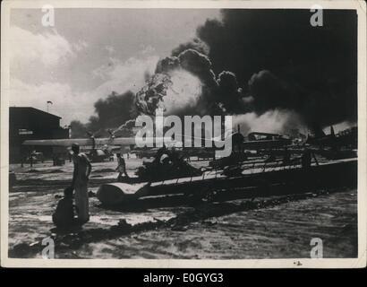 Jan 1, 1940 - L'attacco di Pearl Hardbour - una nuova foto: Foto scattata a ~ tempo del perfido giapponese attacchi Foto Stock