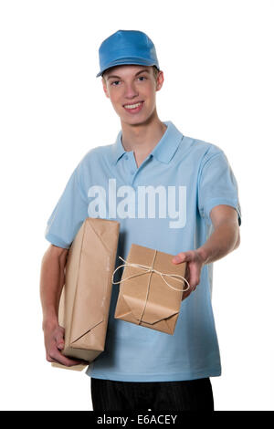 Parcel service,lavoro part-time,consegna persone Foto Stock