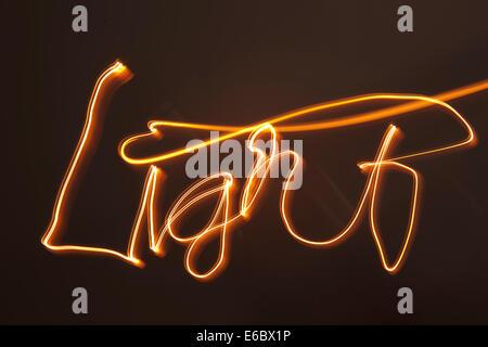 Luce,via lighting Foto Stock