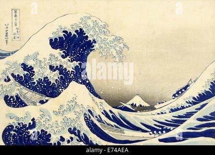 La grande onda di Kanagawa off - da Katsushika Hokusai, 1829 - 1833 Foto Stock