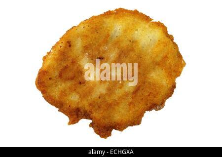 Potato Pancake isolati su sfondo bianco Foto Stock