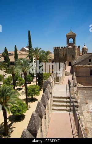 Alcázar de los Reyes Cristianos, nella provincia di Córdoba, Andalucía, Spagna Foto Stock