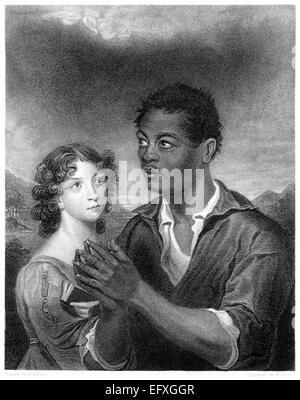 """Una incisione intitolata """"Il Principe africano' scansionati ad alta risoluzione da un libro stampato nel 1845. Foto Stock"""