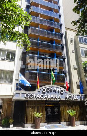 Rio de Janeiro Copacabana, Oceano Copacabana Hotel, Brasile Foto Stock