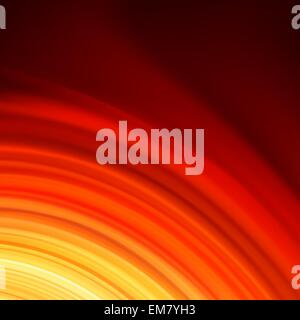 Rosso twist Liscio linee di luce sullo sfondo. EPS 8 Foto Stock