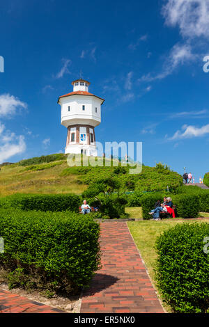 Acqua torre a Langeoog isola, mare del Nord est delle Isole Frisone, Frisia orientale, Bassa Sassonia, Germania, Foto Stock