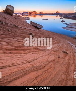 Padre Bay, dal Cookie Jar Butte. Il Lake Powell, Utah, Stati Uniti d'America Foto Stock