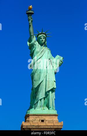 New York City, la Statua della Libertà Foto Stock