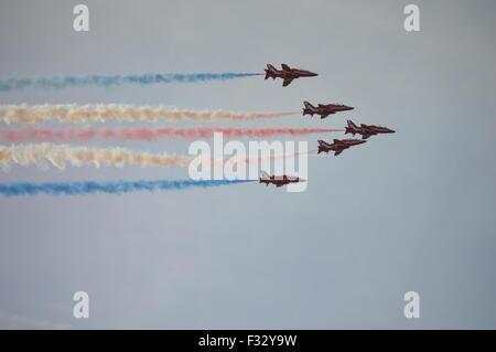 Le frecce rosse Team Display all'Airshow di Southport Foto Stock