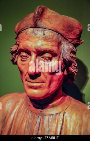 La scultura da Rinascimento e Barocco e artista nelle gallerie della impressionante Ringling Museum of Art di Sarasota, Foto Stock