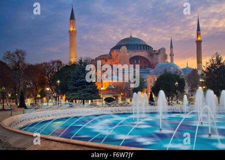 Istanbul. Immagine di Hagia Sophia a Istanbul, Turchia. Foto Stock
