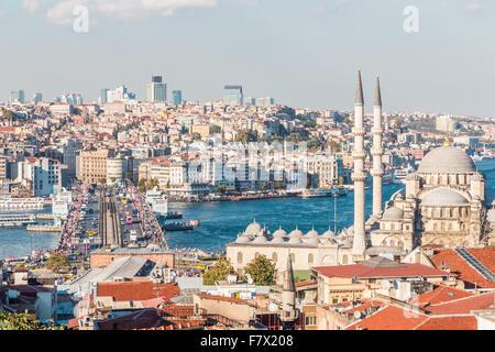 Istanbul Cityscape dai tetti Foto Stock