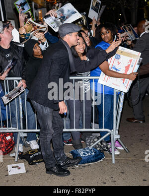 Brad Pitt e Angelina Jolie arriva a uno screening di 'DAL MARE' al Cinema 1, 2, 3 a Manhattan con: Brad Pitt dove: Foto Stock