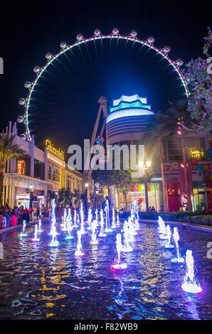 Il rullo di alta a LINQ, una sala da pranzo e al quartiere per lo shopping nel centro di Las Vegas Foto Stock