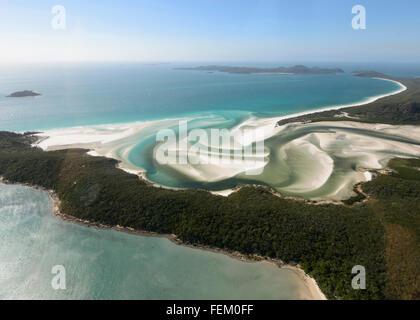 Vista aerea della collina di ingresso, Isole Whitsunday, estremo Nord Queensland, FNQ, QLD, Australia Foto Stock