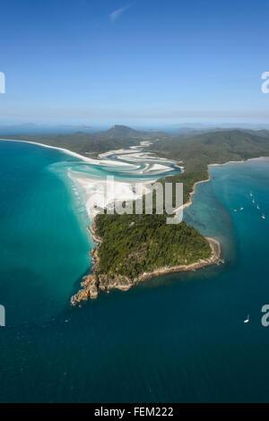 Vista aerea della collina di ingresso, Isole Whitsunday, Queensland, Australia Foto Stock