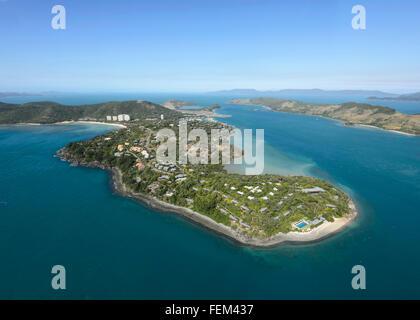 Vista aerea di Hamilton Island, Queensland, Australia Foto Stock