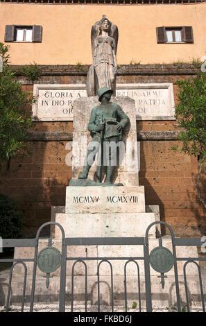 Orte, Memoriale di guerra (WWI), Lazio, Italia Foto Stock