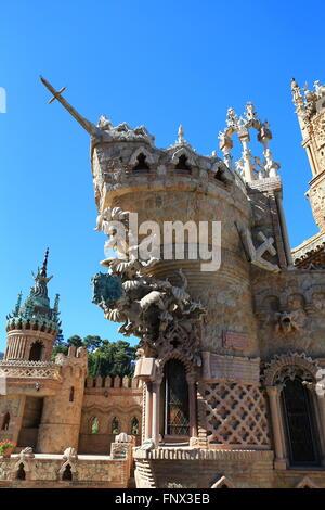 Castillo Monumento Colomares in Benalmadena Foto Stock