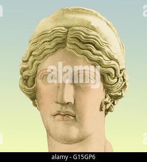 Hera, antica dea greca delle donne e del matrimonio. Il suo omologo di Juno era nella mitologia romana. Foto Stock