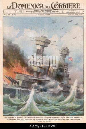 Attacco a Pearl Harbor 360 giapponese di piani di guerra effettuare un attacco a sorpresa contro gli Stati Uniti Foto Stock