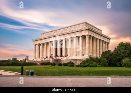 Il Lincoln Memorial a Washington DC, Stati Uniti d'America. Foto Stock