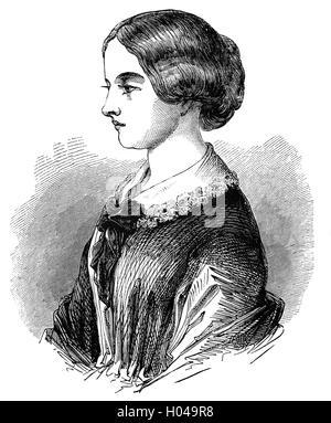 Florence Nightingale (1820 - 1910) era un celebre inglese riformatore sociale e il fondatore della moderna assistenza Foto Stock