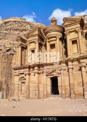 Monastero di Deir el di Petra, Giordania Foto Stock