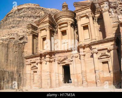 Annuncio Deir, monastero Petra in Giordania Foto Stock