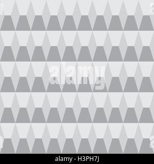 Luce astratta in scala di grigi pattern senza soluzione di continuità geometrica a forma di rombo Foto Stock