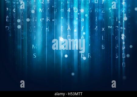 Computer flusso dati sullo sfondo Foto Stock