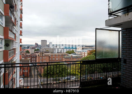 Vista su Bristol dalla colomba Street appartamenti Foto Stock