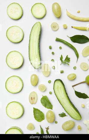 Diverse verdure verdi Foto Stock