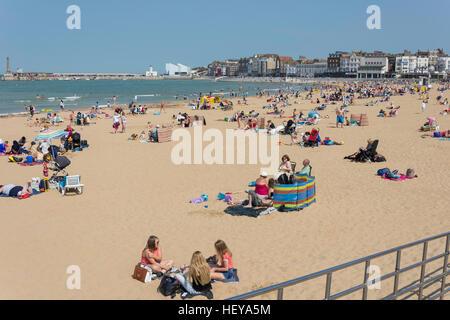Margate Beach, Margate, Kent, England, Regno Unito Foto Stock